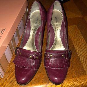 Kenneth Cole meet & greet tartan heels 7 Burgundy